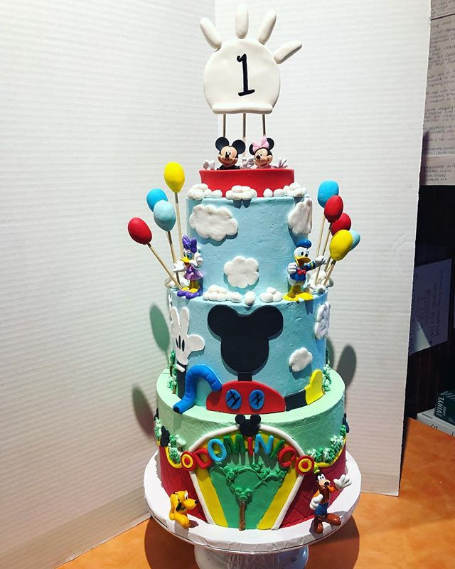 Awesome Mickey Mouse Clubhouse Birthday Cake Mi Personalised Birthday Cards Veneteletsinfo