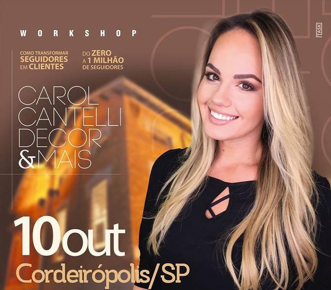Carol Cantelli em Cordeirópolis