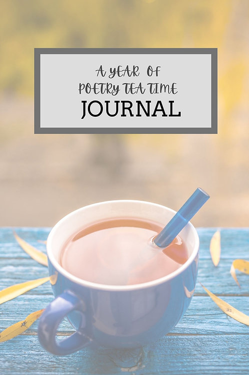 A Year of Poetry Tea Time Journal (Blue Theme)