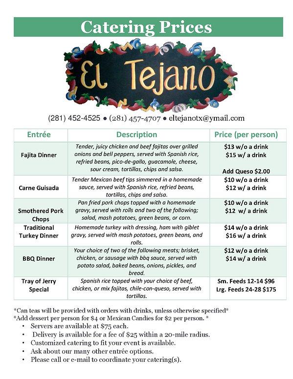 El Tejano Catering Prices 2019 Updated-p