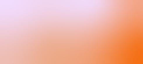 a pink and orange gradient creates a background.