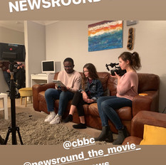 Filming Newsround