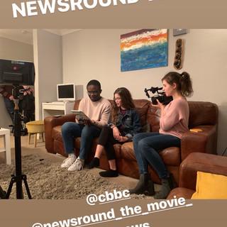 Filming Newsround