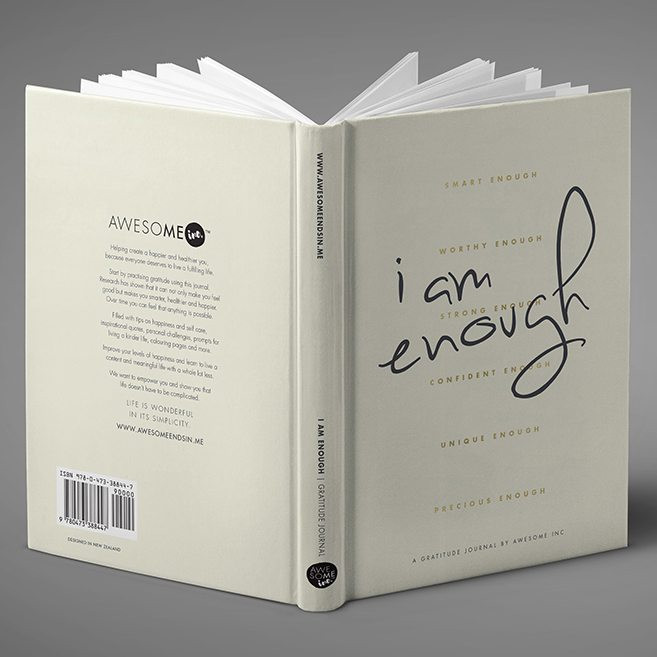 Image of book that says 'I Am Enough' on the cover. Blog by Sali Green at Cheltenham Lifestyle & Business and iwork4uglos.