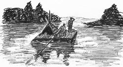 Huckleberry Finn auf großer fahrt