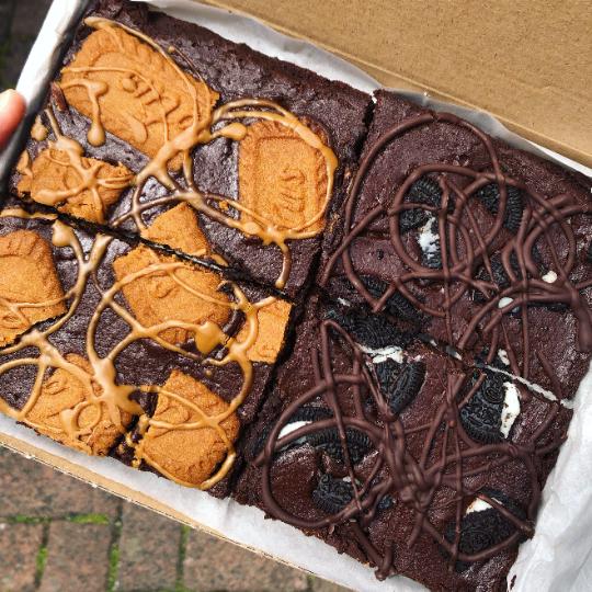 Mixed Letterbox Vegan Brownie Box | Oreo, Biscoff, Choc Chunk and More...