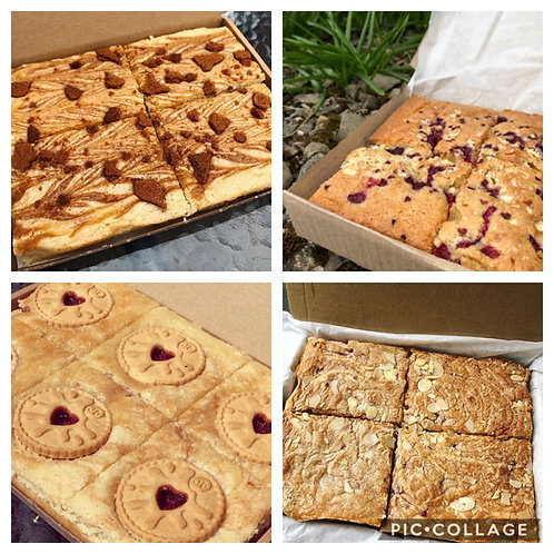 Vegan Letterbox Blondies - Biscoff, Bakewell, Jammie Dodger and More...