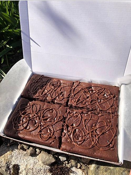 Gluten-Free Vegan Double Chocolate Chunk Brownies