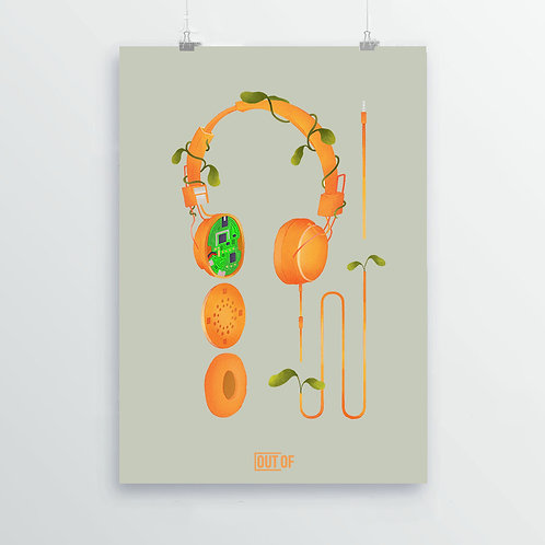 Headphone Print