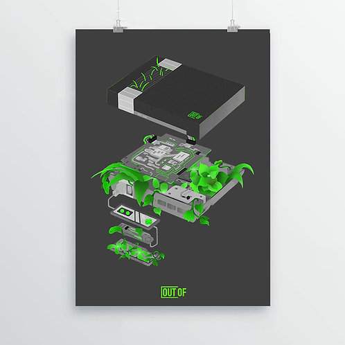 NES (Dark Mode) Print