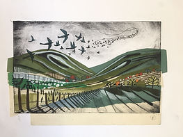 Fiona Richardson - Starlings on the Downs