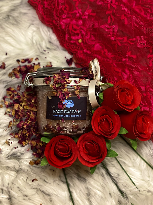 VALENTINES Pink Himalayan Salt, Apricot Oil and Rose Scrub
