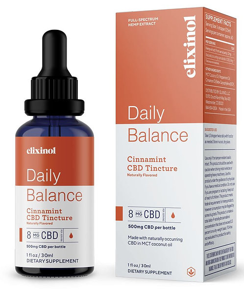 Elixinol CBD Tinctures - Cinnamint