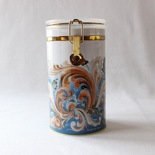 Rosemaly Blue Canister