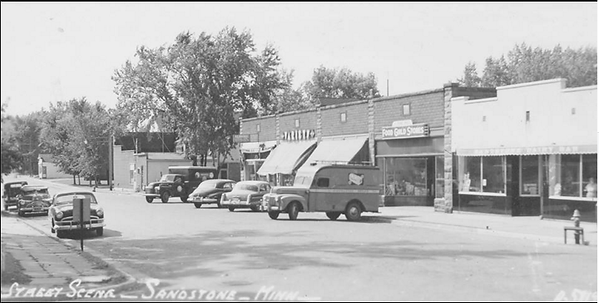 Sandstone Ben Franklin and other stores 1950s