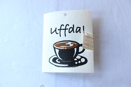 Uff da! Coffee cup Swedish Dishcloth