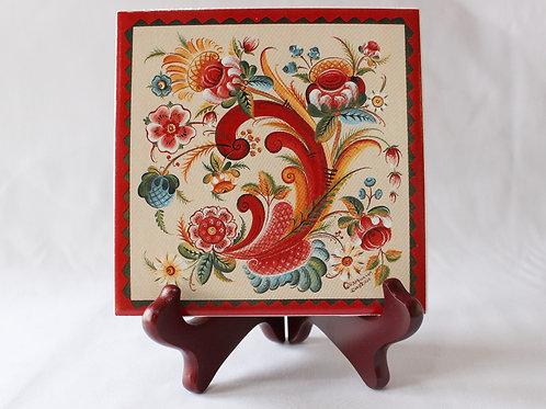 OS Rosemaling Art Tile