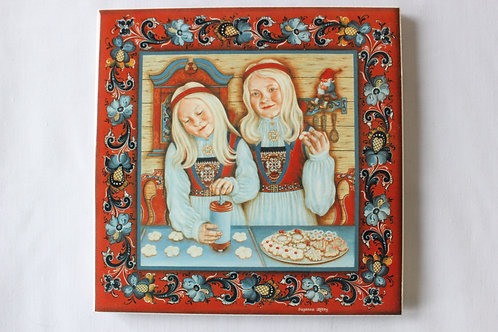 Spritz Cookie Baker Art Tile