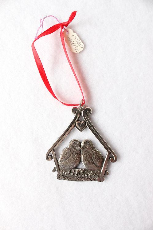 Norwegian Metal Love Birds Ornament