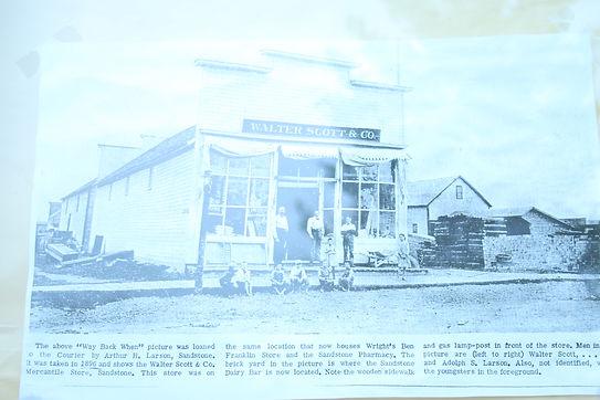 Walter Scott & Co Mercantile Store Sandstone, MN 1896