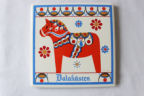 Dala Horse Art Tile