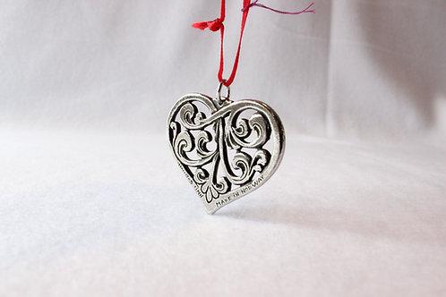 Norwegian Metal Heart Ornament