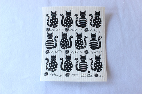 Cats Swedish Dishcloth