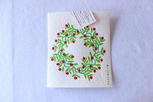 Wreath Swedish Dishcloth