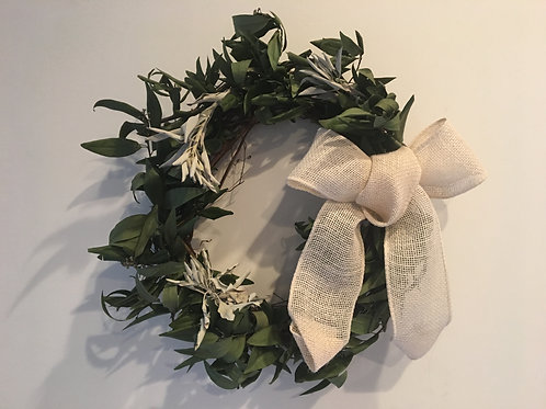Bay Leaf & White Sage Wreath