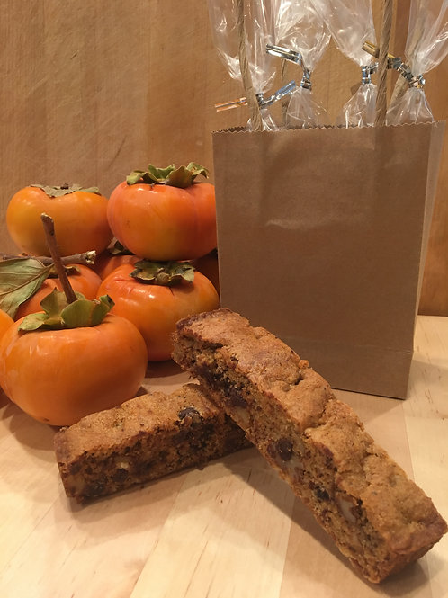 Persimmon Chocolate Biscotti