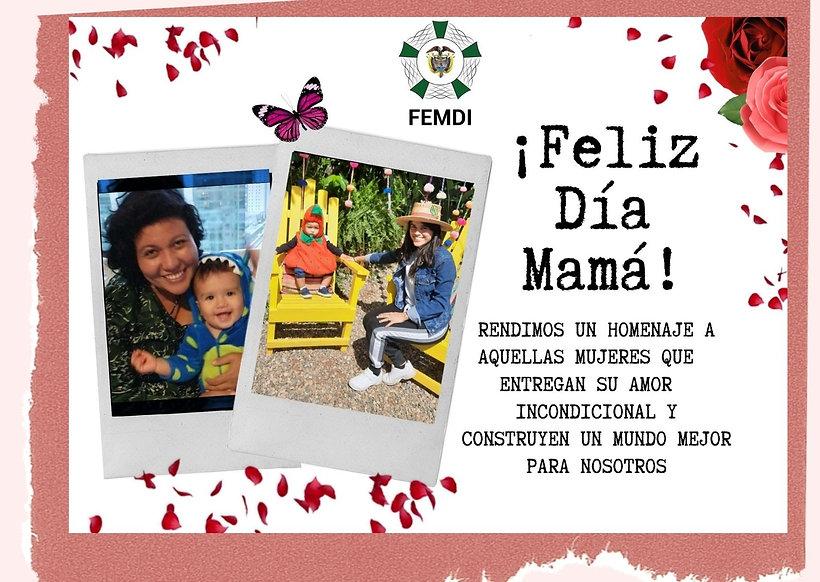 Rosa Collage Día de la Madre Tarjeta (1)