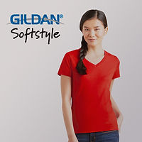 GILDAN-63V00L-SOFTSTYLE-女裝環紡-V-領-T-恤1.jp