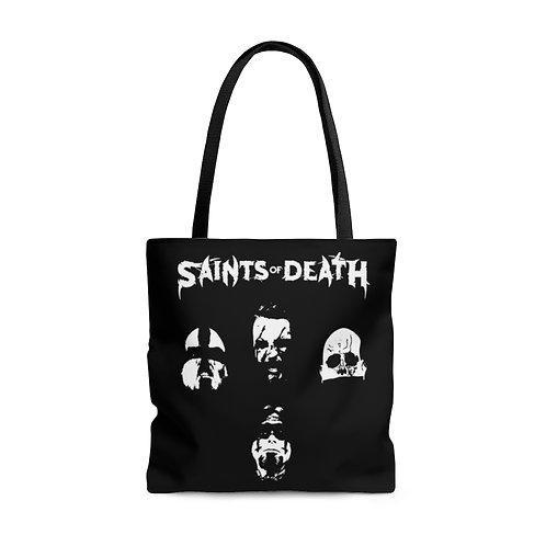 """Saints of Death """"Faces"""" Tote Bag"""