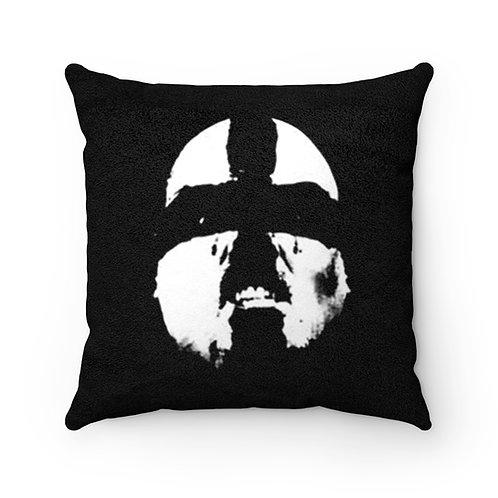 """Saints of Death """"Ashley"""" Faux Suede Square Pillow"""