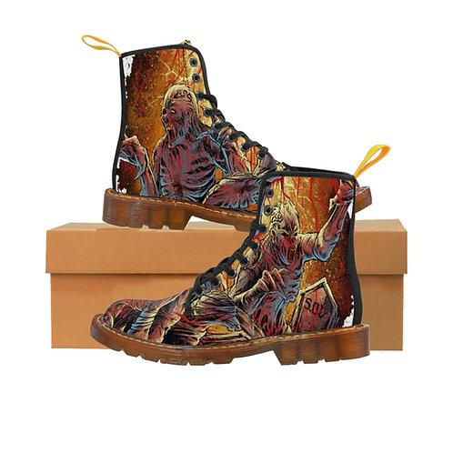 """Saints of Death """"ZOMBIE"""" Men's Canvas Boots"""