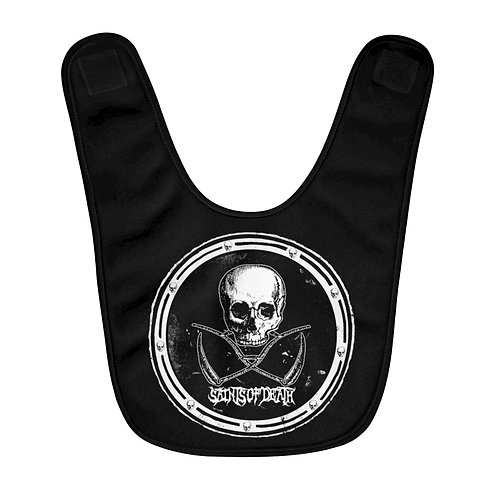"Saints of Death ""Crest Logo"" Fleece Baby Bib"