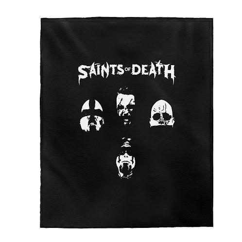 "Saints of Death ""Faces"" Velveteen Plush Blanket"