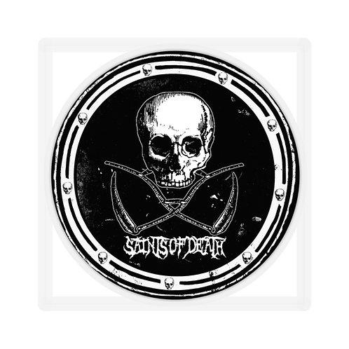 "Saints of Death ""Crest Logo"" Sticker (Black)"