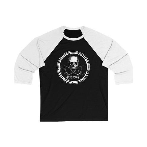 """Saints of Death """"Crest Logo"""" Unisex 3/4 Sleeve Baseball Tee"""