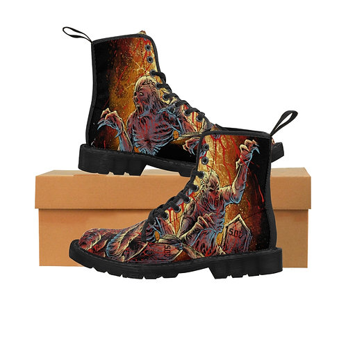 "Saints of Death ""Zombie"" Women's Canvas Boots"
