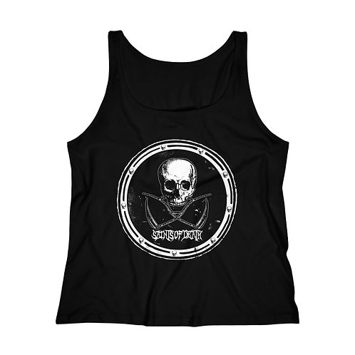 """Saints of Death """"Crest"""" Women's Relaxed Jersey Tank Top"""