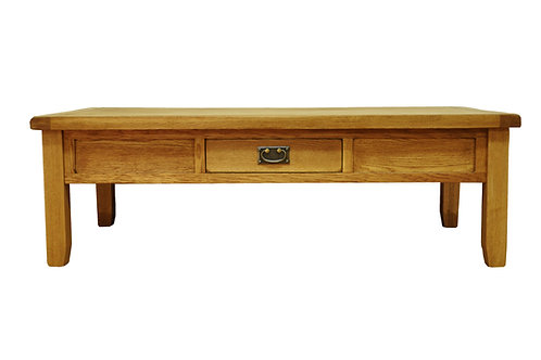 Large Coffee Table with Drawer 140cm L x 70cm W