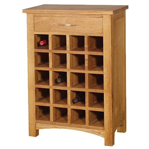 Wine Rack With Drawer H870 W600 D350