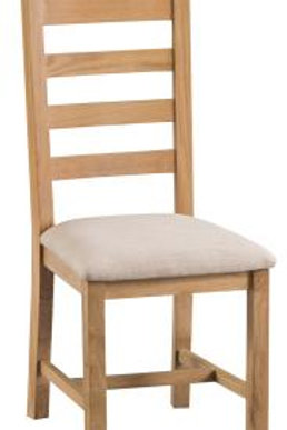 Ladderback with fabric seat