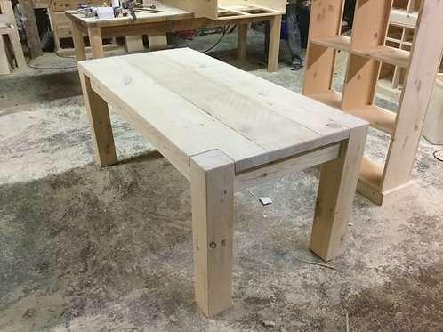 Rustic Plank Table 7x3 Unfinished