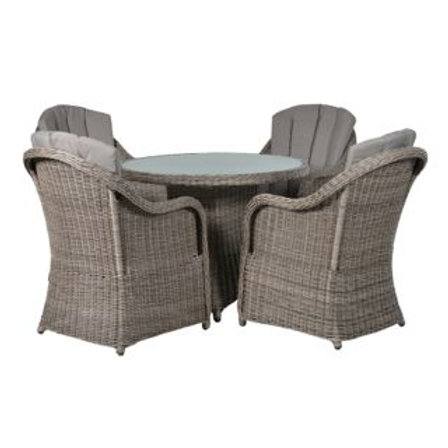 Table and 4 Chairs including Cushions