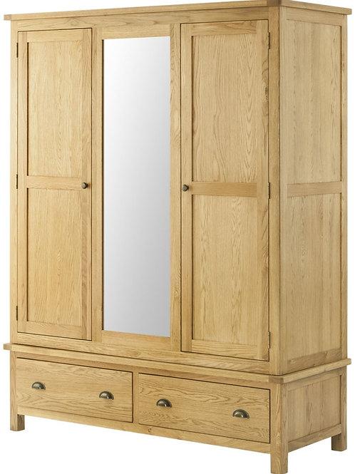 Lincoln Oak Triple Wardrobe  1470cmWx1900cmHx570cmd