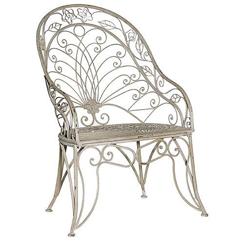 Grey Wash High Back Chair
