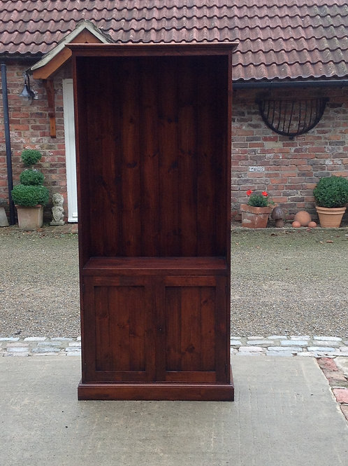 Open Bookcase with Cupboard 6ft x 3ft