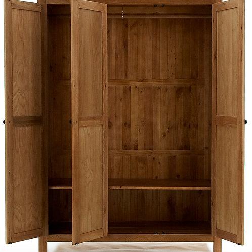 3 Door Wardrobe Mirrored 169W X 57D X 200H